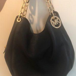 Michael Kors Black SOFT leather Hobo Purse HOT!!